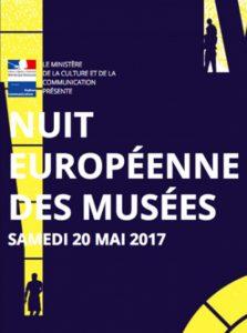 13ème édition de la Nuit européenne des musées, samedi 20 mai 2017