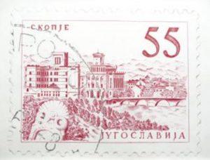 © Diana Righini, Timbres, Yougoslavia Skopje, 2013. Dessin, 100*70 cm.