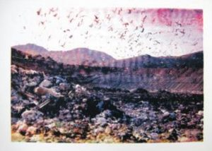 © Diana Righini, Décharges, 2013. Sérigraphie, 50*70 cm.