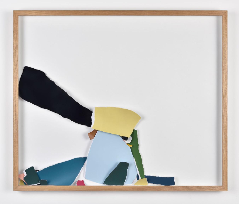 Pétales (#3), 2016, papier, acrylique, 52 x 62 cm