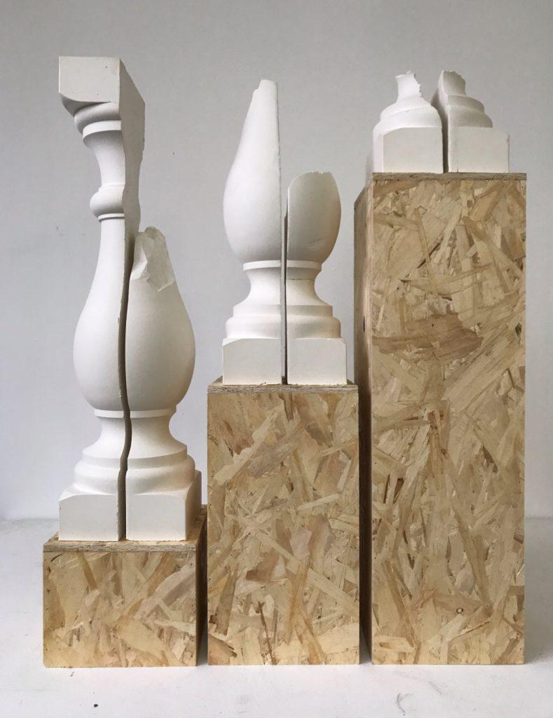 Exposition SCABELLON - Double V Gallery Marseille - Cyril Zarcone Balustres décoratives, 2017