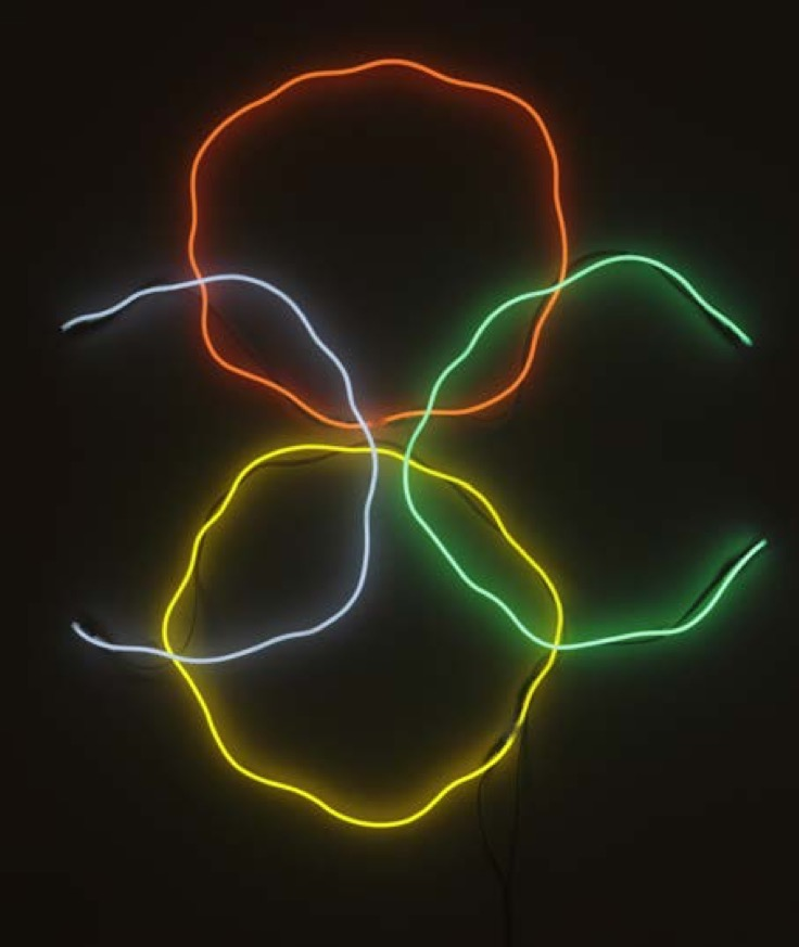 Une Partie de Campagne - à Chassagne-Montrachet & Chagny - Frédéric Bouffandeau, Sans titre, 2016, néons, 160x160cm - courtesy Galerie Oniris Rennes