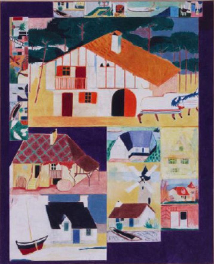 Raphaël Sitbon - Sans Titre - 2017 - Crayon de couleur sur bois - 130 x 110 cm – Exposition Seuls ensemble H Gallery Paris