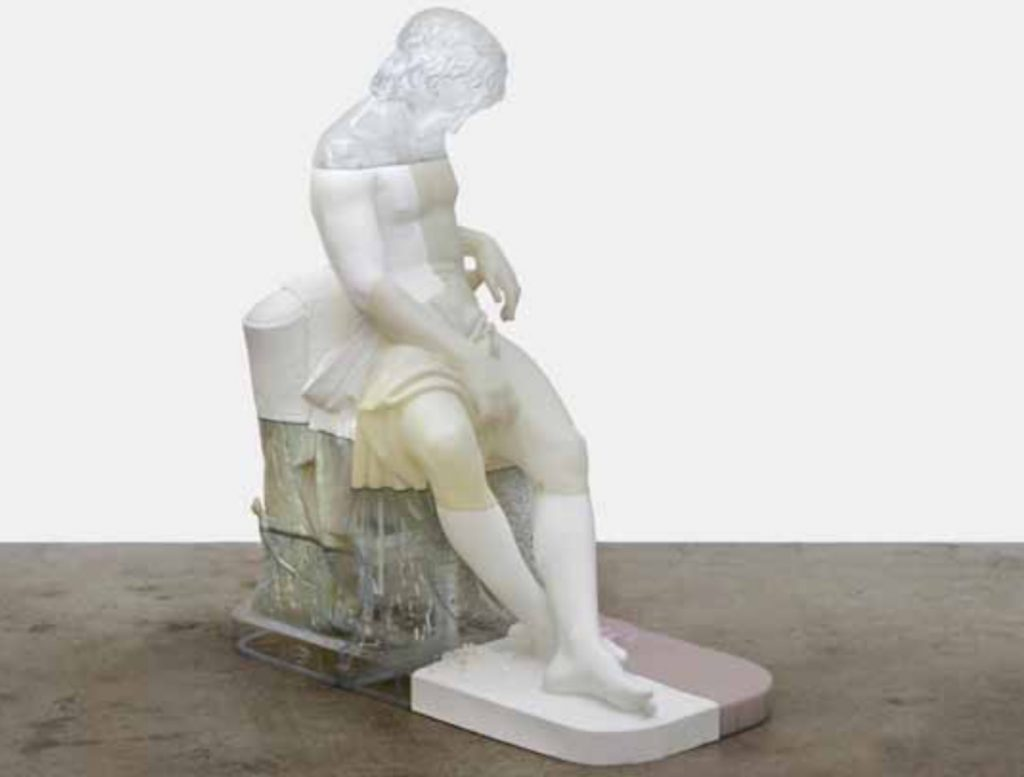 Oliver Laric, Sleeping Boy, 2016 Courtesy of the artist and Tanya Leighton, Berlin - Exposition collective ANARCHEOLOGIE Centre Pompidou, Paris