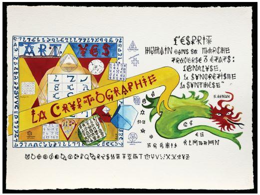 Jacques VILLEGLE, LA CRYPTOGRAPHIE - 15 février 2015- Galerie Sator