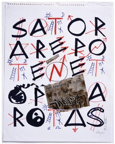 Jacques VILLEGLE, SATOR - 19 octobre 1998 Galerie Sator