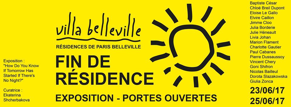 Villa Belleville - Résidences Paris Belleville‎How Do You Know Tomorrow Has Started If There's No Night