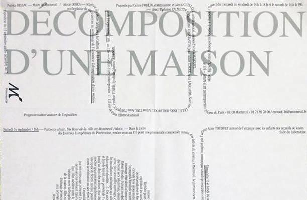 [Exposition] 15/09 ▷ 16/12 – Décomposition d'unemaison – Le 116 – Montreuil