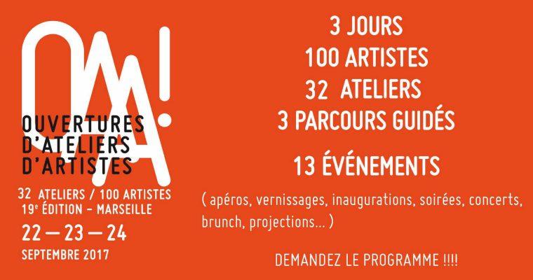 [ATELIERS] 22 ▷ 24/09 – OAA! Ouvertures d'Ateliers d'Artistes Marseille