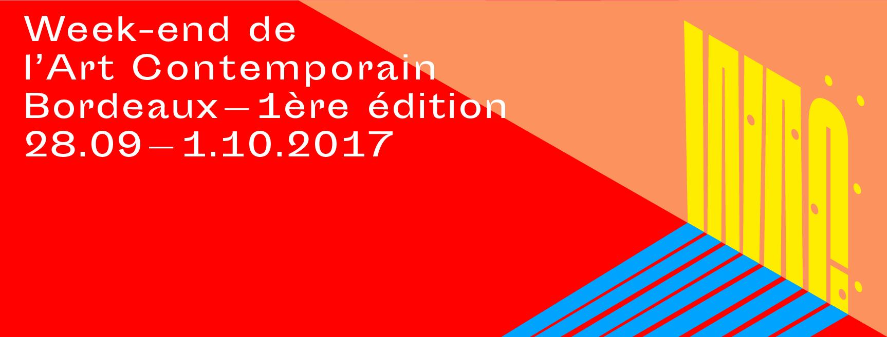 [ÉVÉNEMENT] 28/09▷01/10 – Week-end de l'Art Contemporain – Bordeaux