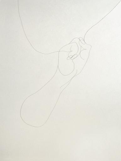 Exposition_Her hair drawing_Claudie DADU_Galerie Barres Rivet