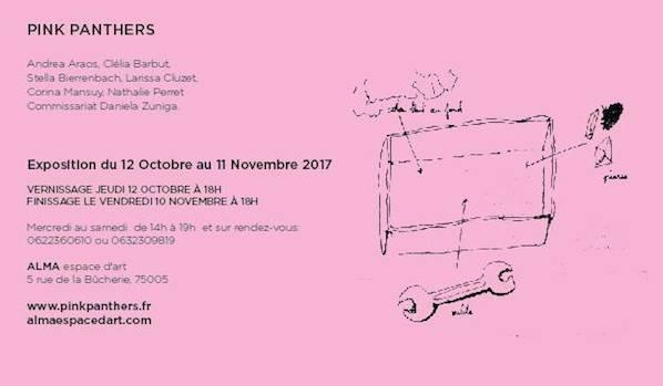 [EXPOSITION] 12/10 ▷ 13/11 – Pink Panthers – Alma, Espace d'art – Paris
