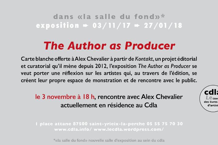 Exposition_The Author as Producer_Alex Chevalier_Centre Des Livres d'Artistes_CDA