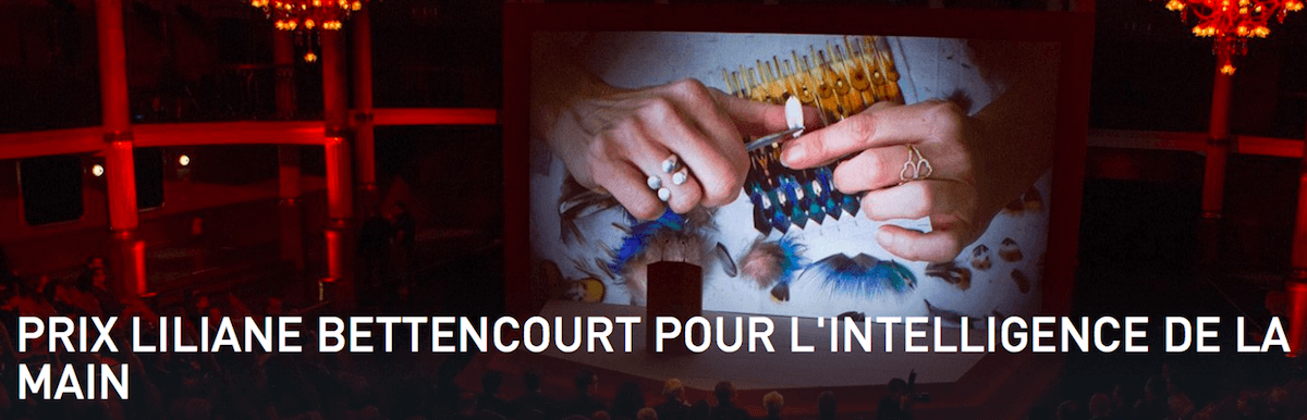 ▷04/04/18 – APPEL À CANDIDATURES DE L'ÉDITION 2018 DU PRIX LILIANE BETTENCOURT POUR L'INTELLIGENCE DE LA MAIN