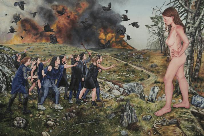Nazanin Pouyandeh, Le Soulèvement Des Âmes Noires, Galerie Sator