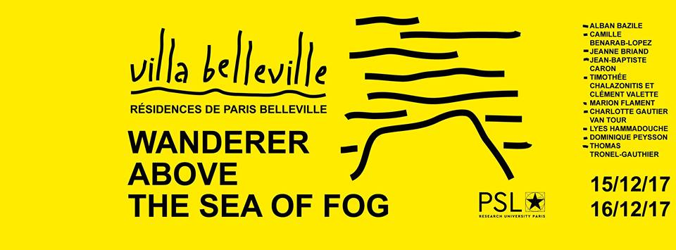 [EXPOSITION] 15 & 16/12 – Wanderer above the sea of fog – Villa Belleville – Paris