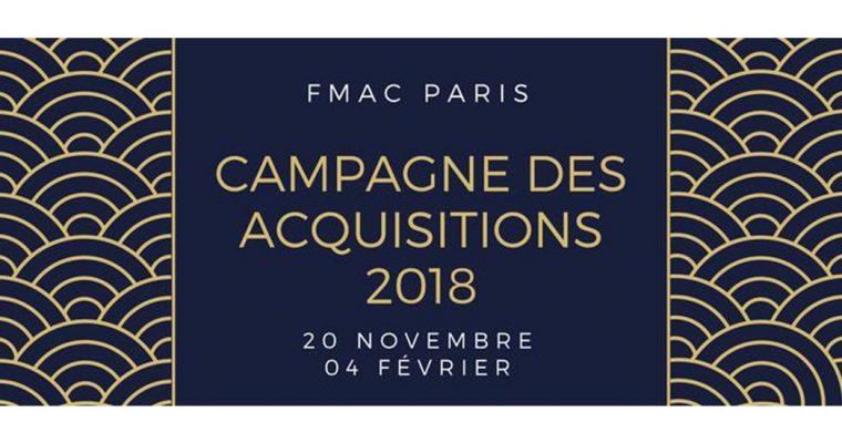 [APPEL À CANDIDATURES] CAMPAGNE D'ACQUISITIONS DU FMAC PARIS 2018