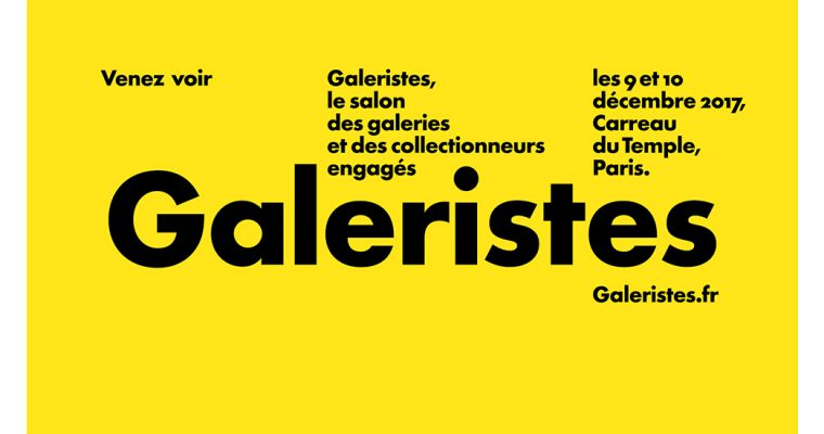 [SALON] 09▷10/12 – GALERISTES – CARREAU DU TEMPLE PARIS
