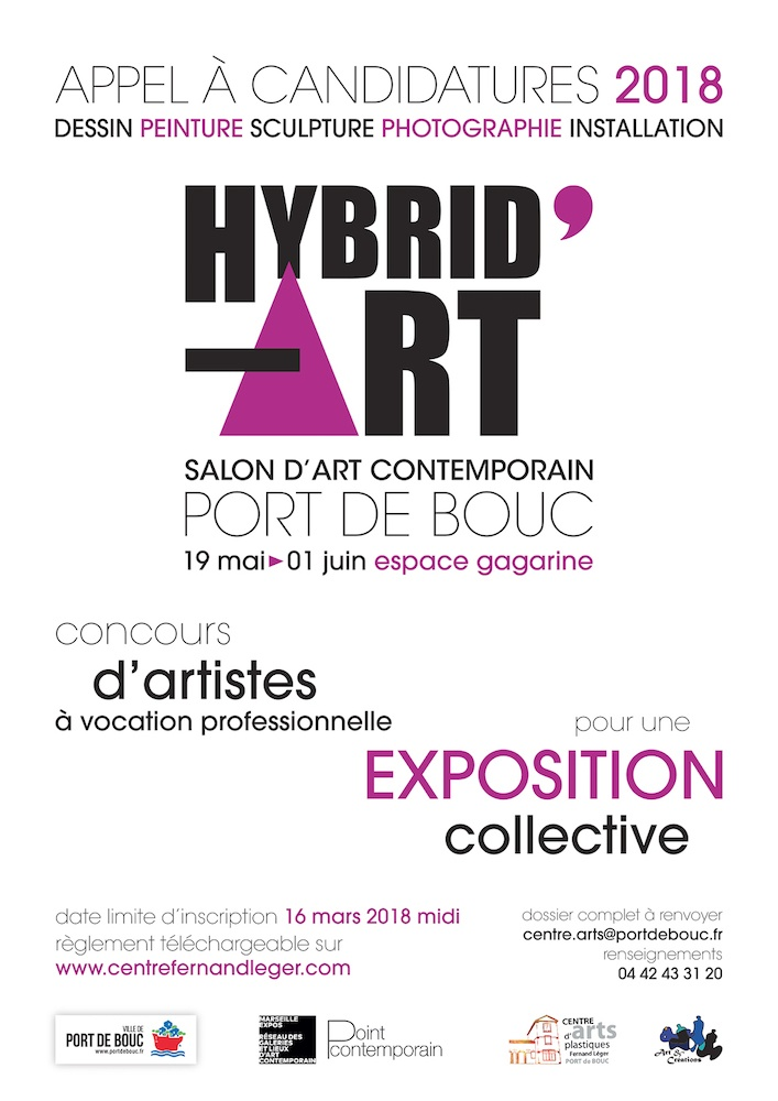 [APPEL À CANDIDATURE] HYBRID'ART le Salon d'art contemporain de Port de Bouc 2018
