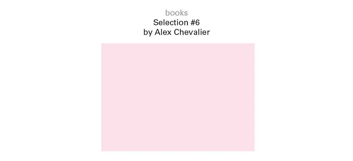 06▷13.01 – BOOKS / SELECTION #6 BY ALEX CHEVALIER – GALERIE FLORENCE LOEWY – PARIS