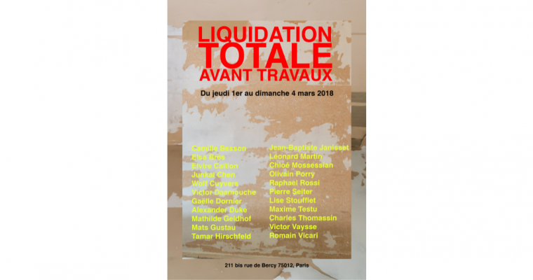 01▷04/03 – LIQUIDATION TOTALE AVANT TRAVAUX – PARIS 12