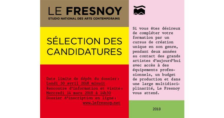 ▷30.04 – SÉLECTION DES CANDIDATURES 2018 LE FRESNOY : UN LIEU DE FORMATION