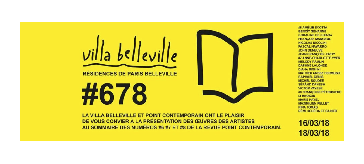 16▷18/03 –  #678  – VILLA BELLEVILLE PARIS