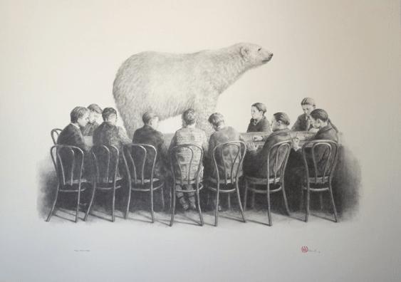The specimen - Toni Hamel_drawing in gallery_galerie alb_noir dessin