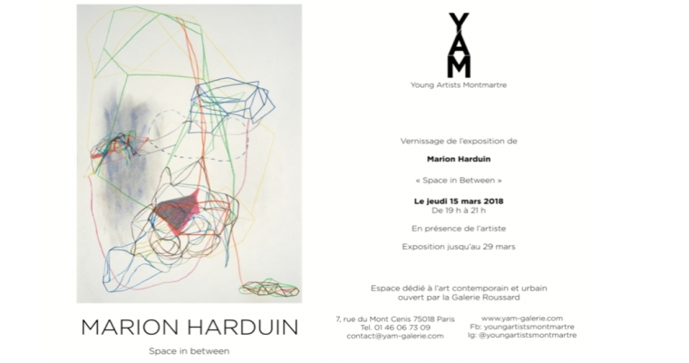 15▷29/03 – MARION HARDUIN – SPACE IN BETWEEN – YAM GALERIE PARIS