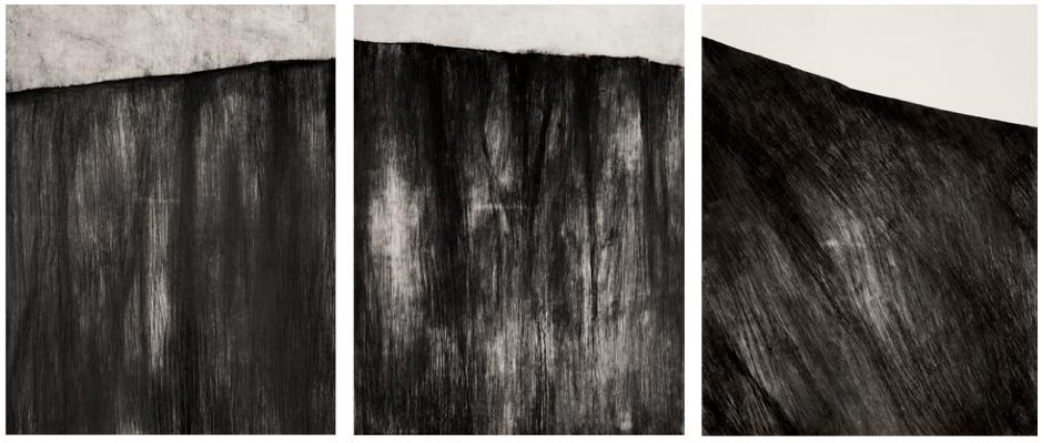 Didier Legaré-Gravel,Croustes, 1 , 2 et 3, gravures monotypes - 50 x 65 cm