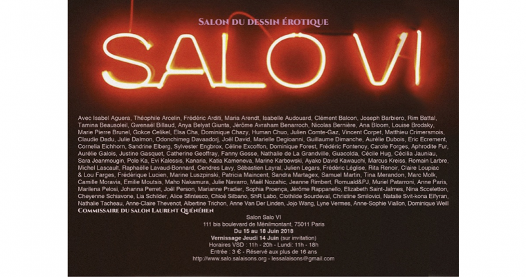 15▷18/06 – SALO VI – SALON DU DESSIN ÉROTIQUE – PARIS
