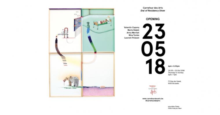 24/05▷23/06 – EXPOSITION DE FIN DE RÉSIDENCE – CARREFOUR DES ARTS BRUXELLES