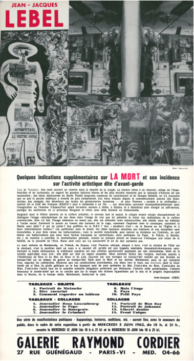 Jean-Jacques Lebel_exposition_L'outrepasseur_Centre Pompidou Paris