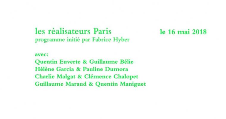 16▷20/05 – Les Réalisateurs Paris – 59 rue de l'Aqueduc Paris