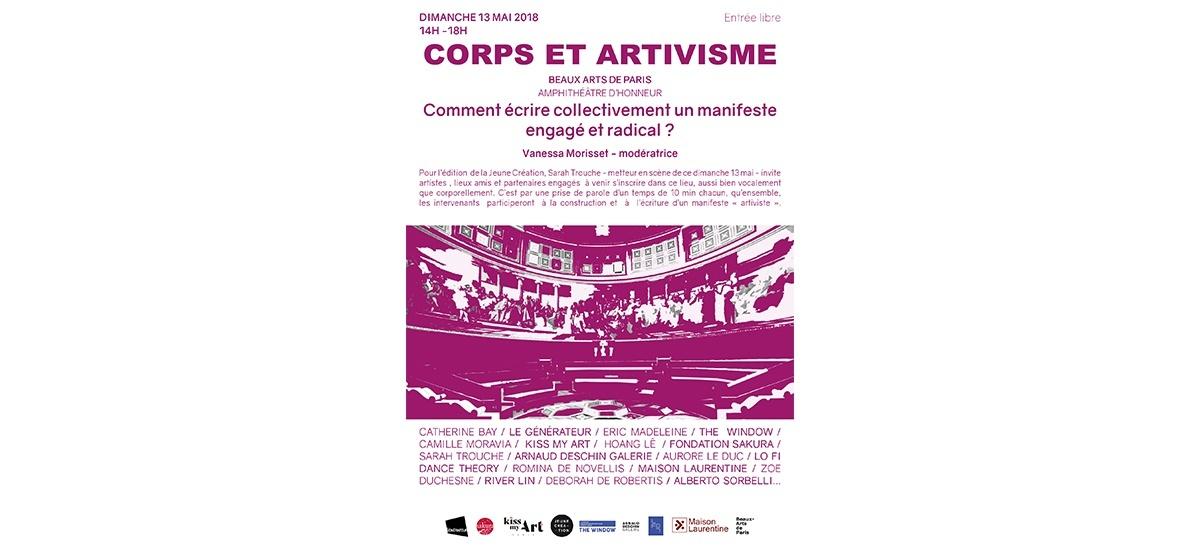 ▷13/05 – Corps et artivisme – Beaux-Arts de Paris