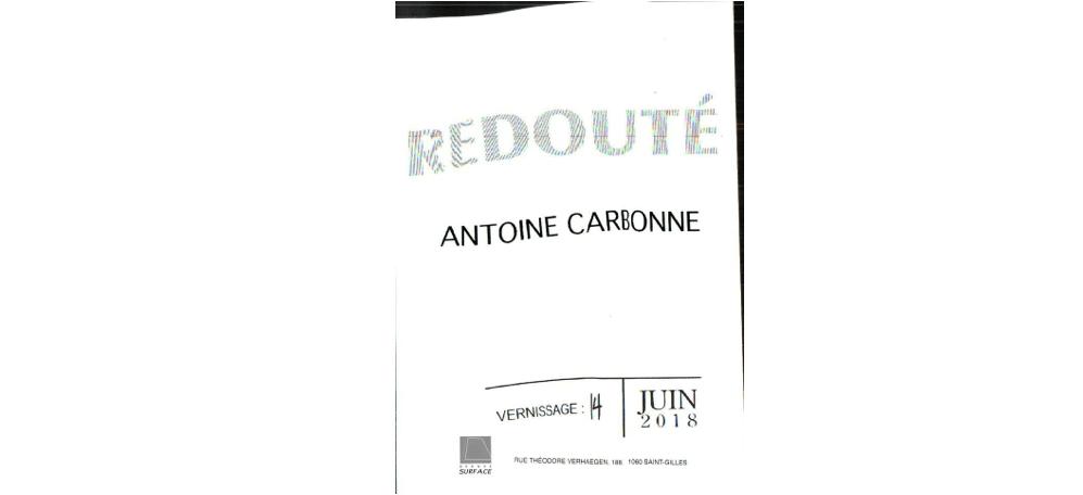 15 & 16/06 – ANTOINE CARBONNE – REDOUTÉ– GRANDE SURFACE SAINT-GILLES – BELGIQUE