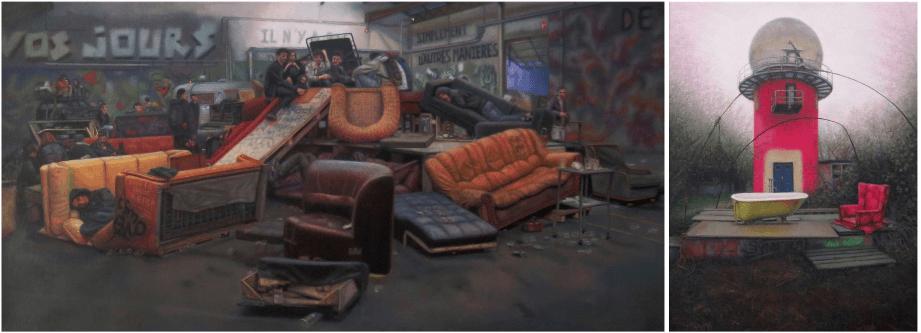 Audrey Nervi - Histoires Courtes Diptyques - Galerie Eva Hober Paris