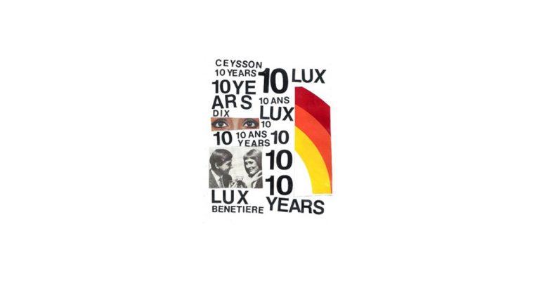 02/06▷04/08 – 10 ANS À LUXEMBOURG – Ceysson & Bénétière – WANDHAFF