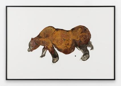 Lionel Sabatté  Ours du 9/11/17, 2017 Oxydation sur papier, 80.4 x 120cm