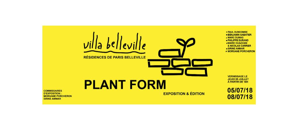 06▷08/07 – PLANT FORM #2 – VILLA BELLEVILLE PARIS