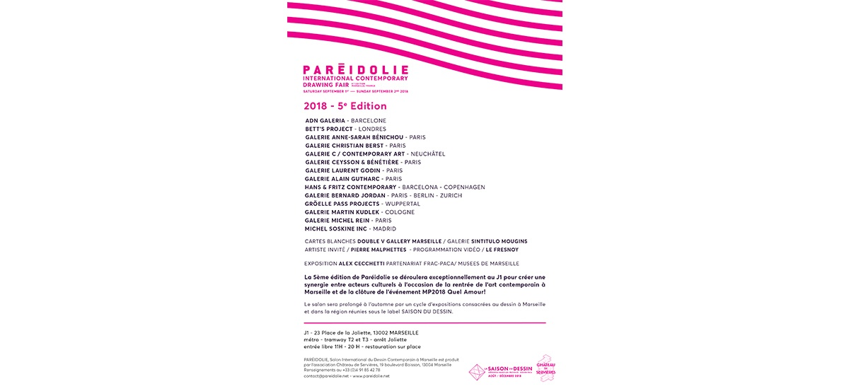 01▷02/09 – PAREIDOLIE Salon International du Dessin Contemporain – Marseille