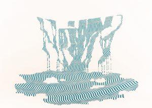 Cascade#2 Crayon sur papier 46 x 61 cm ©ADAGP – Pierre Malphettes