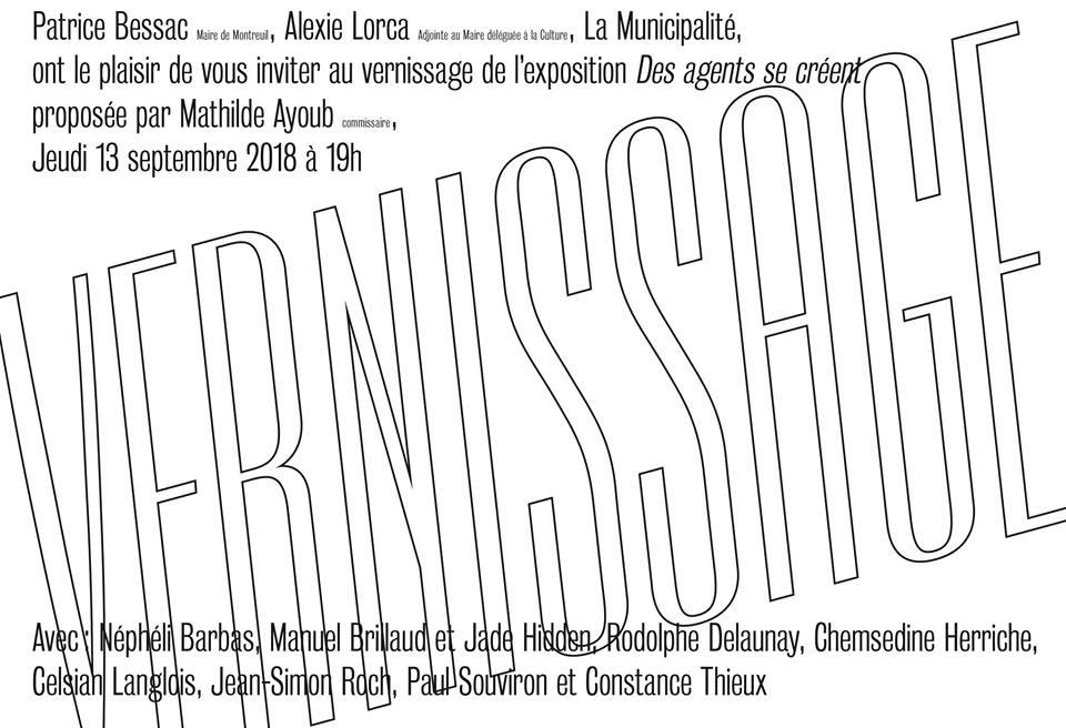 exposition Des agents se créent Centre Tignous d'Art Contemporain Le 116 Montreuil