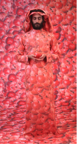 exposition_In Your Mind_H Gallery_Ahaad Alamoudi_Self-portraits as a Pomegranate_Courtesy Athr Gallery