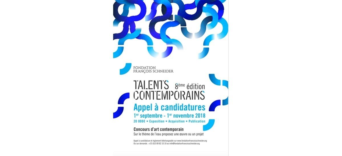 ▷01/11 – Fondation François Schneider x Appel à candidatures x Concours Talents Contemporains