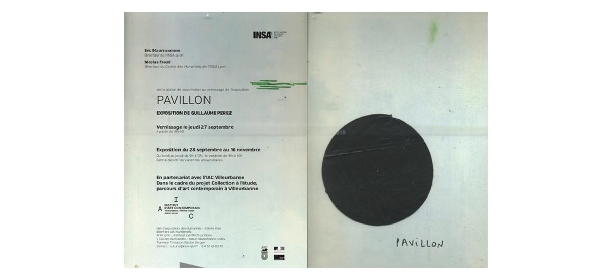 28/09 ▷ 16/11 – Guillaume Perez – Pavillon– INSA Lyon