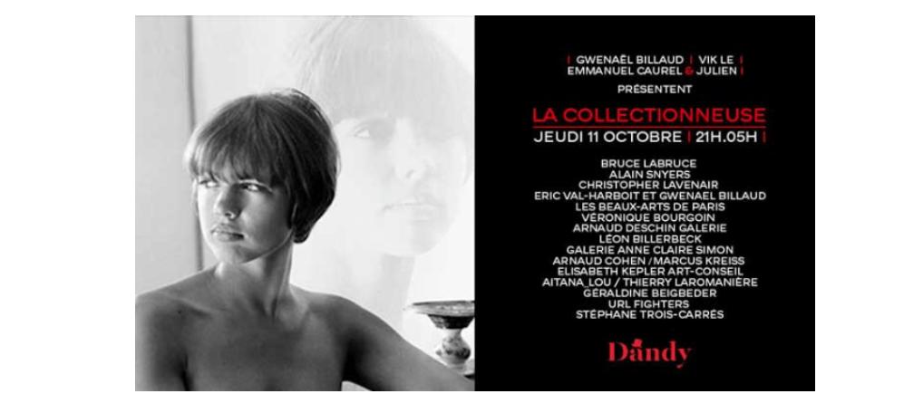 11/10/2018 – SOIRÉE LA COLLECTIONNEUSE – LA GALERIE X LE DANDY PARIS