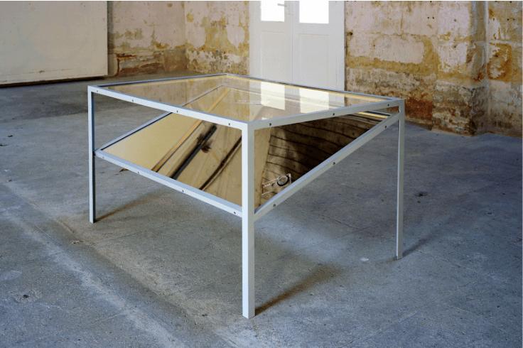 Laurent Montaron_Compass experiment table_Galerie Anne-Sarah Bénichou_Paris