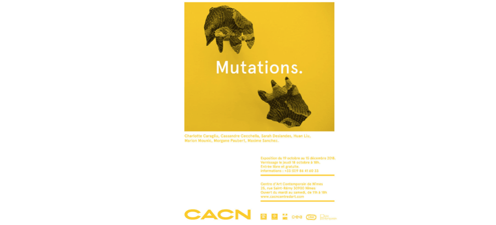 19/10▷15/12 – MUTATIONS. – CACN – CENTRE D'ART CONTEMPORAIN DE NÎMES
