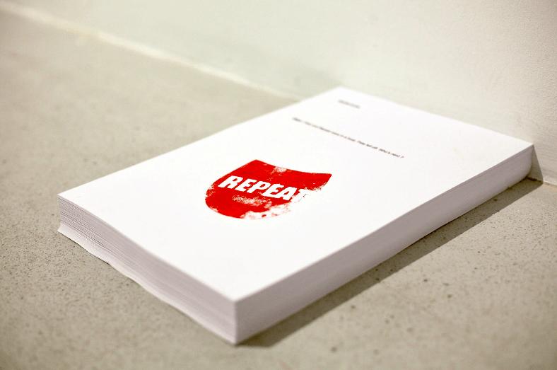 Antoine Proux, Méditerranée, 2018. Impression sur papier, tampon, 21 x 29,7 cm
